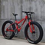 Bicicletas de montaña, Bicicletas de 26 Pulgadas 7/21/24/27 velocidades, Bicicletas de Velocidad Variable para Estudiantes Masculinos y Femeninos
