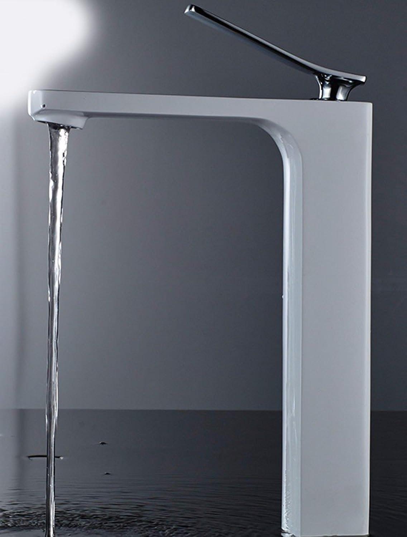 LHbox Bad Armatur in Bad für Waschbecken Waschtisch Wasserhahn Waschtischarmatur Das Bad ist in wei Farbe, Farbe, Becken, Einloch, Kaltes Wasser, Hahn 16.