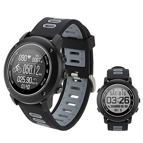 Seasaleshop Reloj Inteligente Deportivo con brújula y GPS , Bluetooth 4.2Smart Watch para la Carrera a pie, la Senderismo y natación, IP68Impermeable Monitor de Ritmo cardiaco