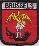 Brüssel Belgien Flagge bestickt Patch Badge
