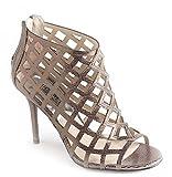 Michael Kors Woman's Aiden Laser-Cut Bootie Nickel, Sandal Shoes. (9)