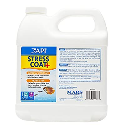 API Stress Coat Aquarium Water Conditioner, 1.9 Liter Bottle from API