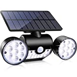AVIS Lampes solaires d'extérieur à double tête LED à induction pour le corps humain pour patio, patio, allée