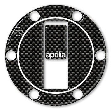 Adesivo-Sticker in resina 3D colore crbonio protezione Tappo Serbatoio per moto compatibile con Aprilia