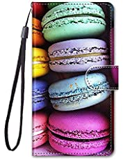 Mylne Full Body Wallet Case for Samsung Galaxy J6 2018,Colorful Pattern Design PU Leather Flip Cover with Magnetic Closure Stand Card Slot,Cake