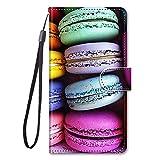 Miagon Full Body Flip PU Leder Schutzhülle für Samsung Galaxy A32 5G,Bunt Muster Hülle Brieftasche Hülle Cover Ständer mit Kartenfächer,Kuchen