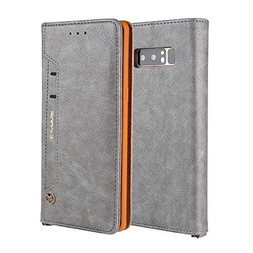 SGJFZD Cubierta Protectora de la Cartera magnética de la Cartera de Cuero de la Textura de la PU de la PU de la PU con la Bolsa de Las Ranuras de Las Tarjetas para Samsung Galaxy Note 8