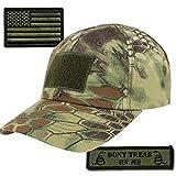 Gadsden and Culpeper Operator Cap Bundle - w USA/Dont Tread Patches (Mandrake Cap)