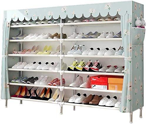 7 Niveles Zapato Rack Zapato Organizador Gabinete de Organizador con Tapa de Tela a Prueba de Polvo Capacidad de Gran Capacidad Personal de Zapatos Ideal para Zapatos Botas Zapatillas A Excellent