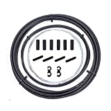 Kit de Cables de desviador de Bicicleta, Juego de Carcasa de Cable de Cambio de Bicicleta para Shimano Sram/Bicicleta de Carretera MTB, Kit de reemplazo de Cable de desviador (Negro)