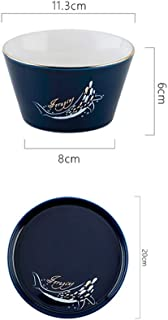 Nwn Home Nordic Breakfast Couple 2 People Set Tableware Single Exquisite Dishes Set (Color : C)