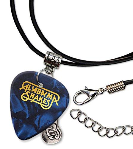 Alabama Shakes Gitarre Plektrum Schnur Halskette Necklace Blue Pearl (GHF)
