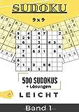Sudoku 9x9: MP Sudokus Band 1 leicht | 500 leichte Zahlenrätsel mit Lösungen | große und gut...