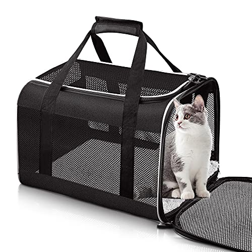 Tomykii Pet Carrier,Soft-Sided Collapsible Cat Dog Carrier,Pet Travel Carrier Bag for Small Medium Cats Dogs Puppies Rabbits