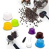 DHYED 6 filtros de café reutilizables reutilizables, cápsulas de café reutilizables, sin BPA, accesorios de cocina, herramientas de café, adecuado para el hogar, cocina, oficina al aire libre