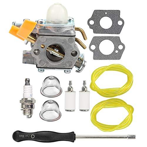 Hippotech 308054043 Carburador con Herramienta de Ajuste para Homelite Ryobi RY09800 RY28021 RY28041 RY28065 UT32601 UT32601A UT32605 UT32651 UT32651A UT32655 Desbrozadora Strting 26cc