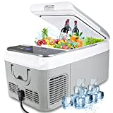 Car Refrigerator - AUTOOMMO 19 Quart/21 Can Portable Car Fridge for Vehicle, RV, Truck, Car Cooler Freezer with Adapter for Home, Outdoor, Travel, Camping, -4℉ to 50℉, DC 12/24V, AC 100-240V