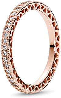 Hearts Rose Gold Ring 2