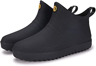 AONEGOLD Chaussures de Pluie pour Hommes Femmes Bottes de Jardinage Imperméable Bottines Caoutchouc Antiderapant Chaussure...
