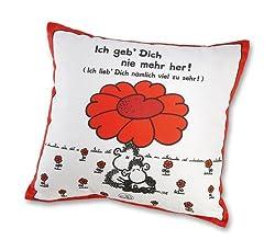 sheepworld 40854 Baumwoll Motiv Ich geb Dich nie mehr her, Geschenk, 40 cm x 40 cm Sofa-Kissen, Hülle, Füllung 100% Polyester, mehrfarbig