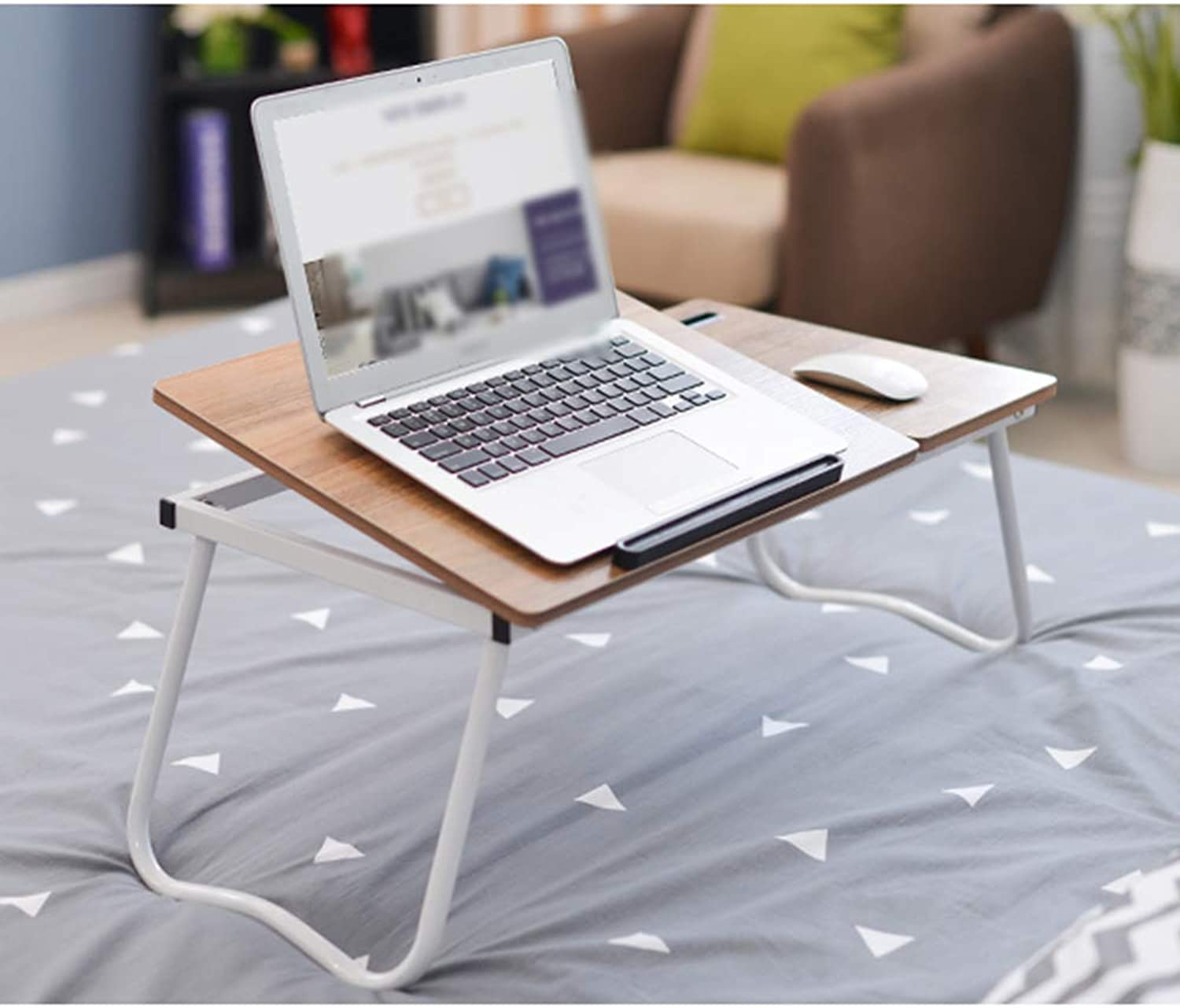 QFFL Table Bed Computer Desk, Foldable Bed Desk Game Table Magazine Coffee Table Lazy Table Lapdesks (color   A, Size   64  36  27CM)