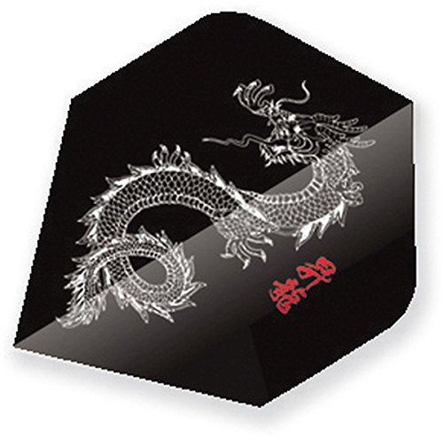 EmbassySports Unicorn Core 75 Dart Flights 75 Micron schwarz China Drache Slim