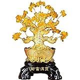 Ornamento de Escritorio Crystal fortuna decoración del árbol del árbol del dinero Living Room Bar decoración de la tabla tienda de don apertura Feng Shui plantas y flores árboles artificiales artesaní