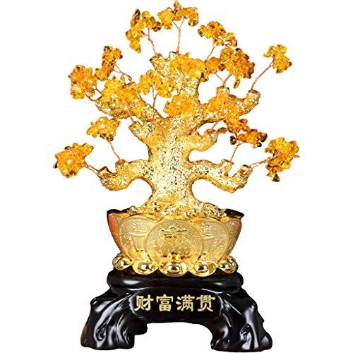 Ornamento de Escritorio Crystal fortuna decoración del árbol del árbol del dinero...