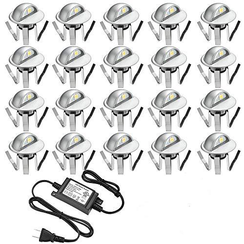 Pack of 20 Low Voltage LED Deck Light Kit Φ1.38
