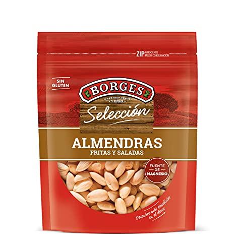 Borges Almendras Comunes en Grano, sin Piel, Fritas y Saladas Bolsa de, 200g