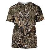 Camiseta 3D para hombre de caza de animales de jabalí salvaje
