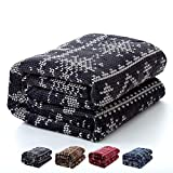 毛布 2枚合わせ 冬用 綿入り あったか ふわふわ ボリューム マイクロファイバー 厚手 毛布と掛ふとん兼用 三層構造 接触温感 高密度フランネル 洗える 一年間品質保証(150x200cm グレー)
