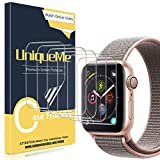 UniqueMe [6 Pezzi] Pellicola Protettiva per Apple Watch 40mm Series 6/5/4/ SE, [Caso Amichevole] [Film Flessibile] Soft HD Clear TPU Film, Anti-Scratch
