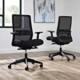 HON BASYX Biometryx Commercial-Grade Task Chair, Office Chair, in Black