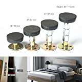 Adjustable Threaded Bed Frame,Telescopic Support for Room Wall Protect and Bed...