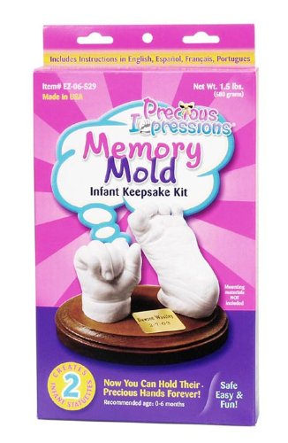 Darice EZ-06-529 Precious Impressions Memory Mold Infant Kit, Keepsake, White
