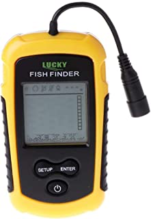 Alarma Sonar Portátil LCD Finder Fish Fishing Lure Echo Sounder Detector Kit