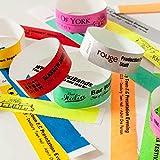 Lot de 100 bracelets en Tyvek imprimés personnalisés pour événements, sécurité, fêtes, papier comme – Lot de 100 (Aqua)