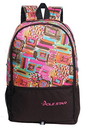 POLESTAR Hero 32 Lt Pink & Brown lite Weight Casual Backpack/Day Pack/School Bag
