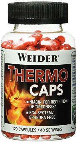 WEIDER Thermo Caps Energy Kapseln mit Carnitin, Grüntee, Guarana & Cayenne Pfeffer, 120 Kapseln