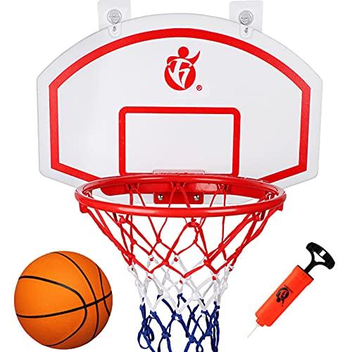 TXYJ Aro de Baloncesto Colgante para Interiores y Exteriores, Mini Tablero de Baloncesto, Mates, Accesorios de Habitación para Regalos, Oficina, Dormitorio