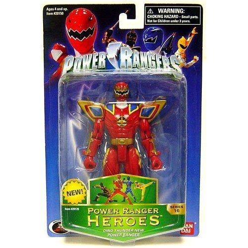 Power Rangers Heroes Dino Thunder Series 16 Action Figure New Ranger (Maroon)