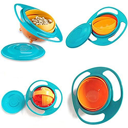 A-goo - Bol gyroscopique anti-renversement à rotation de 360° pour les enfants