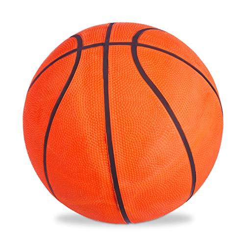 Relaxdays Basketball, griffige Oberfläche, für drinnen & draußen, Ventil, Gummi, Training, Jugendliche, Größe 7, orange