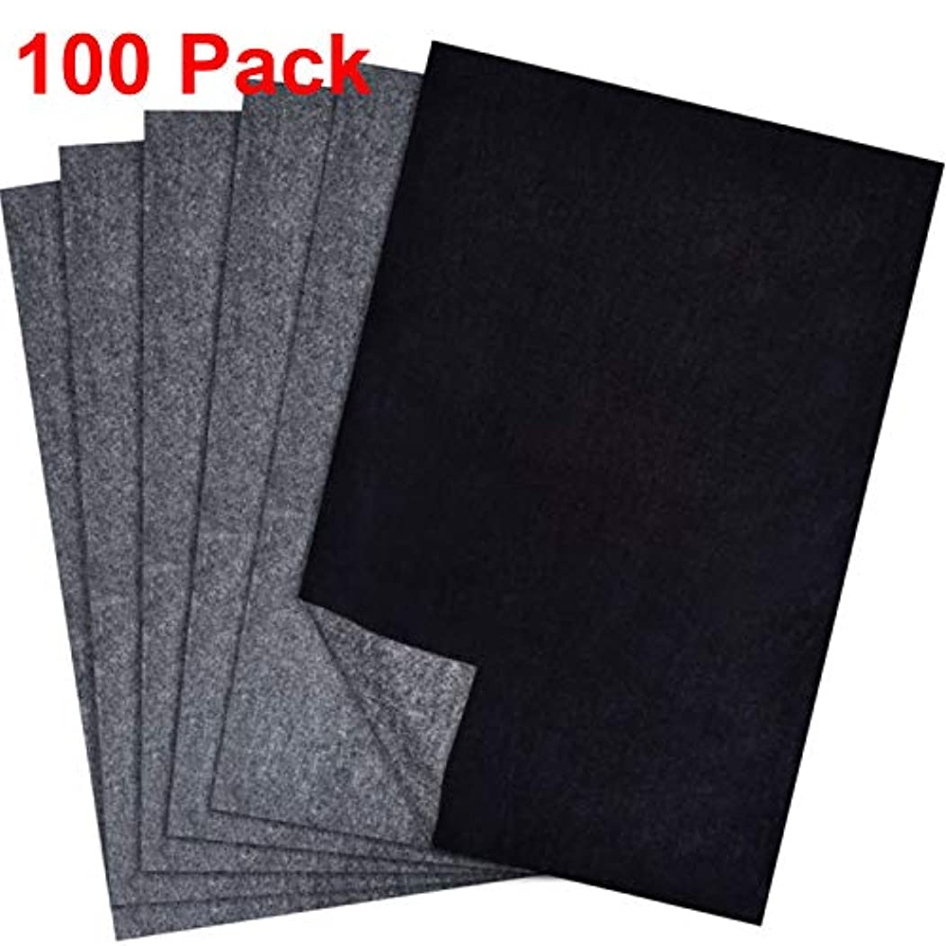 Hotop 100 Sheets Carbon Transfer Paper, Black Tracing Paper for Wood, Paper, Canvas and Other Art Surfaces (9 x 13 Inch)