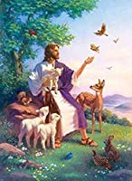 XiuTaiLtd 大人のためのすべての宗教的なDIY木製パズルへの愛、子供のための1000ピースキッズジグソーパズルゲームおもちゃギフト