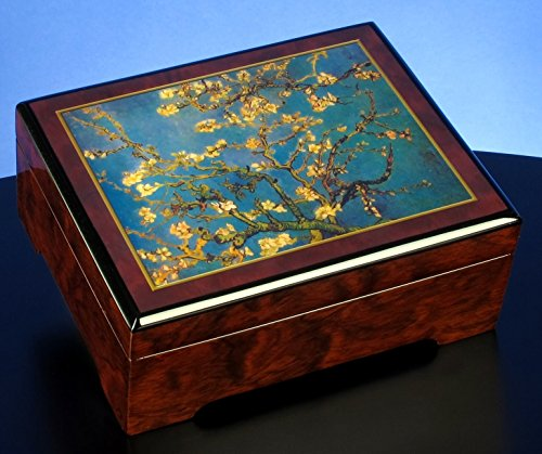 "The San Francisco Music Box Company Van Gogh Almond Blossom 1890"" Musical Jewelry Box"