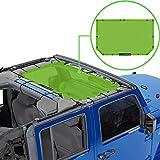 Alien Sunshade Jeep Wrangler JK & JKU (2007-2018) – Front Mesh Sun Shade for Jeep JK Unlimited - Blocks UV, Wind, Noise - Bikini Jkini Top Cover for Sport, Sport S, Sahara, Rubicon (Green)