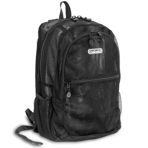 J World New York Mesh Backpack, Black, One Size