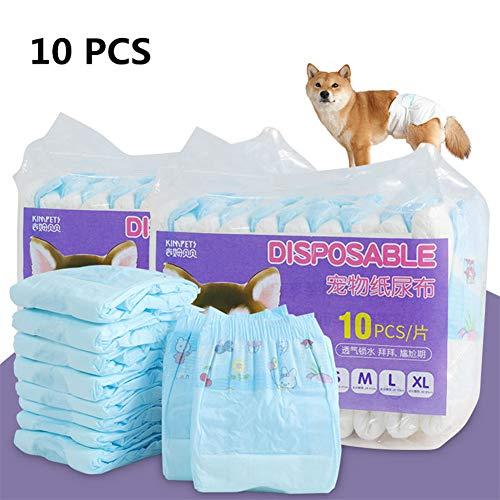 Hond Luiers Hond Incontinentie Producten Kat Luiers Luiers Voor Honden Vrouwelijke Luiers Voor Incontinent Honden Hond Nappy Vrouwelijke 10pcs,s